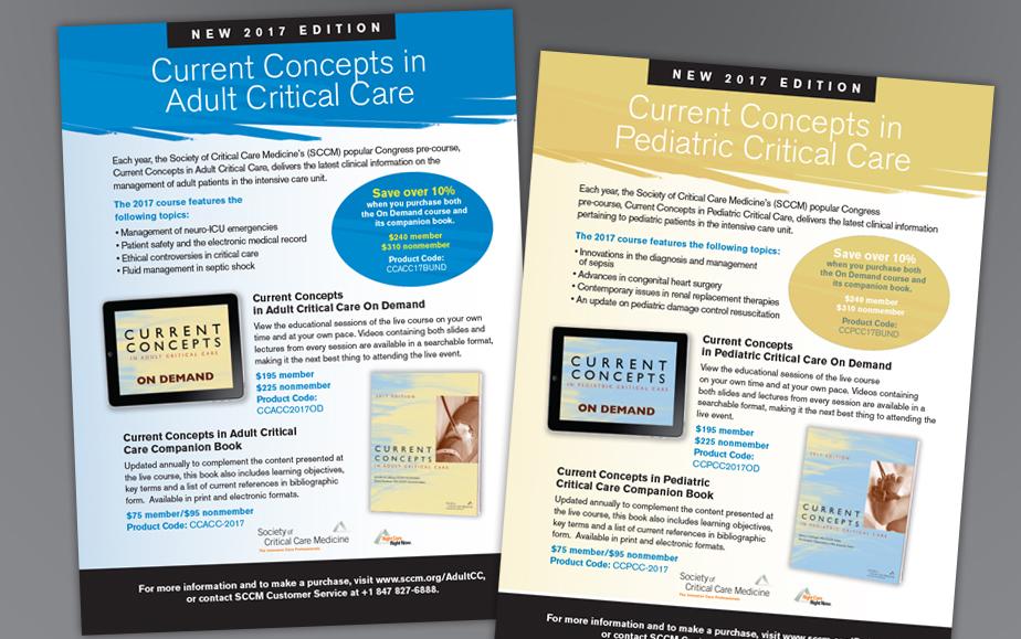 SCCM Adult and Pediatrics Current Concepts Ads