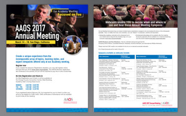AAOS Annual Meeting Branding Ads