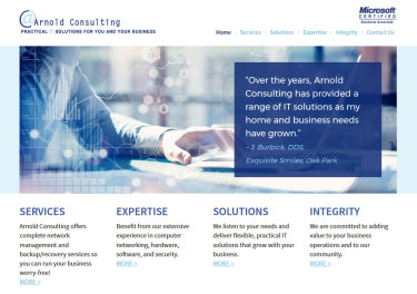 Arnold Consulting website
